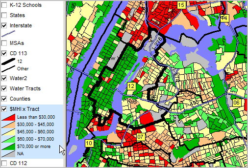 Th Th Congressional Districts ACS Demographic Economic - Map of ny districts for us congress