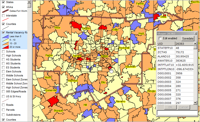 Zip Code Demographic Analysis Dallas Rental Vacancy Rate