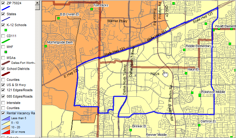 Lewisville Tx Zip Code Map.Zip Code Demographics By School District Census 2010