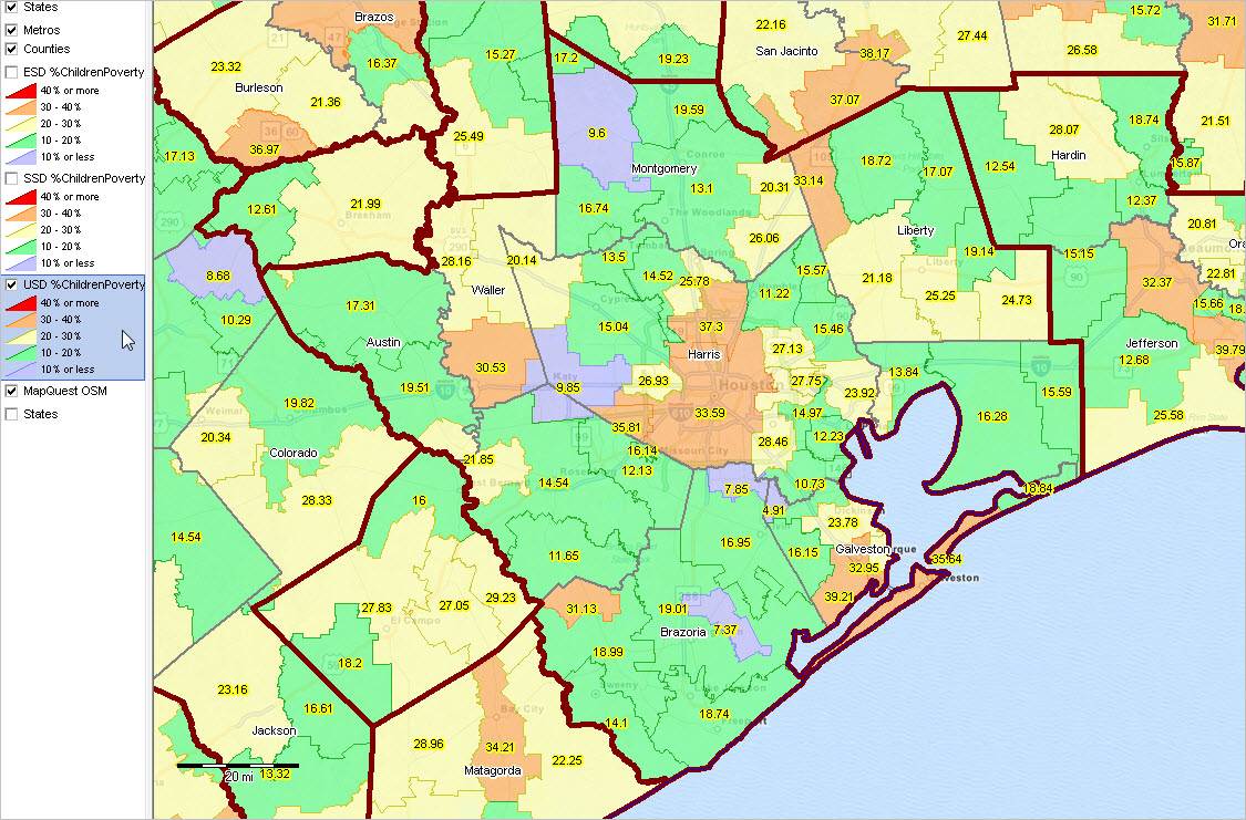 December DecisionMaking Information Resources Solutions - Houston metro area map