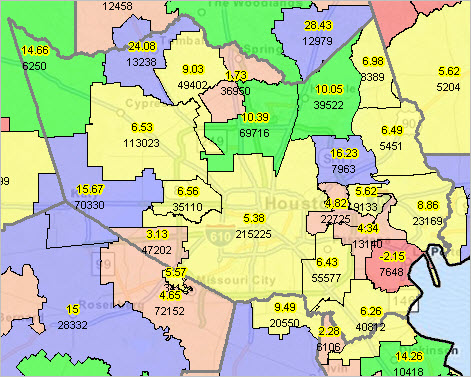 Map Of Texas Esc Regions.School District Enrollment Change Decision Making Information
