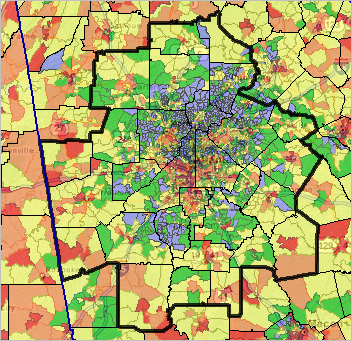 Develop Variations Of This Map View Using The Mapping Georgia Neighborhood Patterns Gis Resources