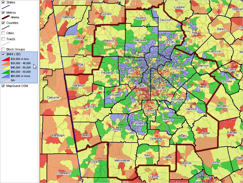 Metros AtlantaSandy SpringsRoswell GA DecisionMaking - Georgia map 2014