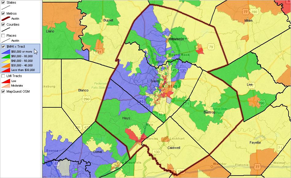 Metros AustinRound Rock TX Metropolitan Area Decision - Austin metro area map