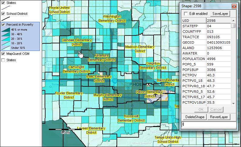 Alfa Img  Showing Gt Phoenix School District Boundaries