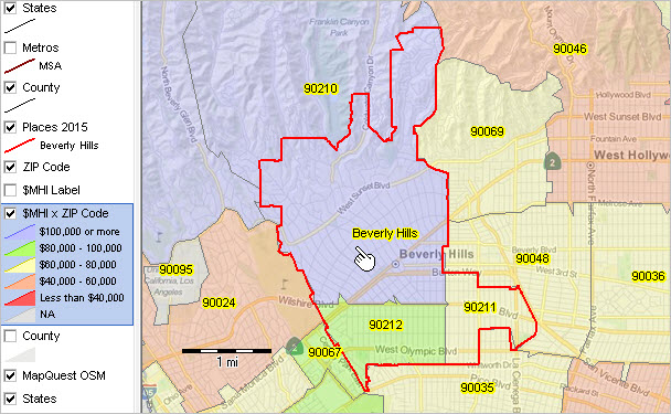 Zip code demographics by city place census 2010 for 90214 zip code