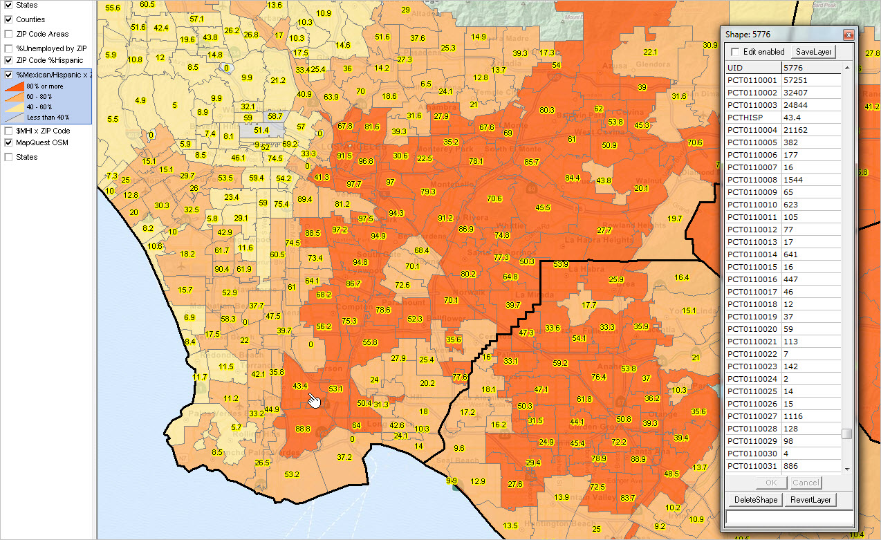 The Essential Los Angeles Rental Heatmap Of The Moment Curbed LA - Us zip code la