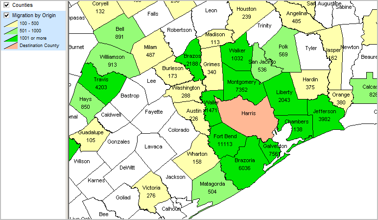 Houston Map Of Counties
