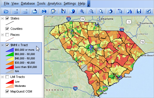 South Carolina Demographic Economic Trends Census 2010 ... on map of seattle demographics, map of dc demographics, map of raleigh demographics, map of st. louis demographics, map of african american demographics, map of chicago demographics, map of india demographics, map of orlando demographics,