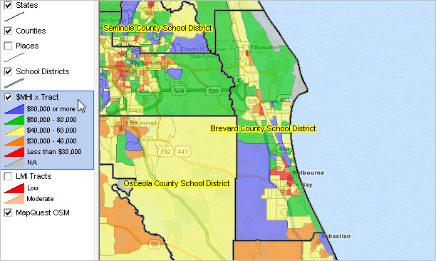 Map Of Florida School Districts.Largest 100 School Districts