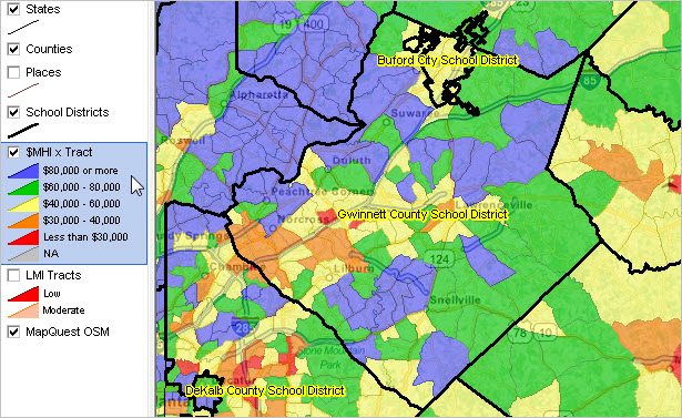 Demographic Trends Population Estimates - Atlanta georgia map zip codes