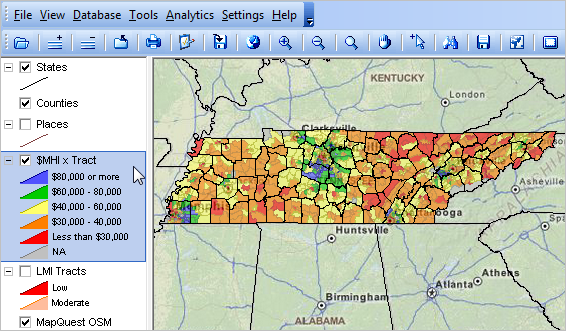 tennessee demographic economic trends census 2010 population