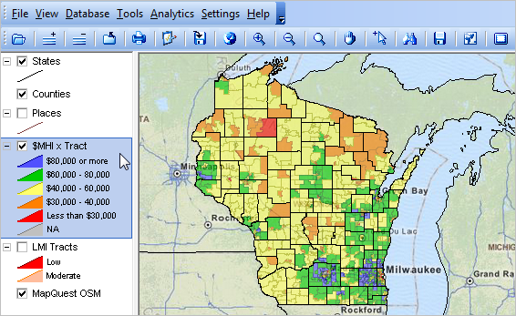 Mapping Wisconsin Neighborhood Patterns