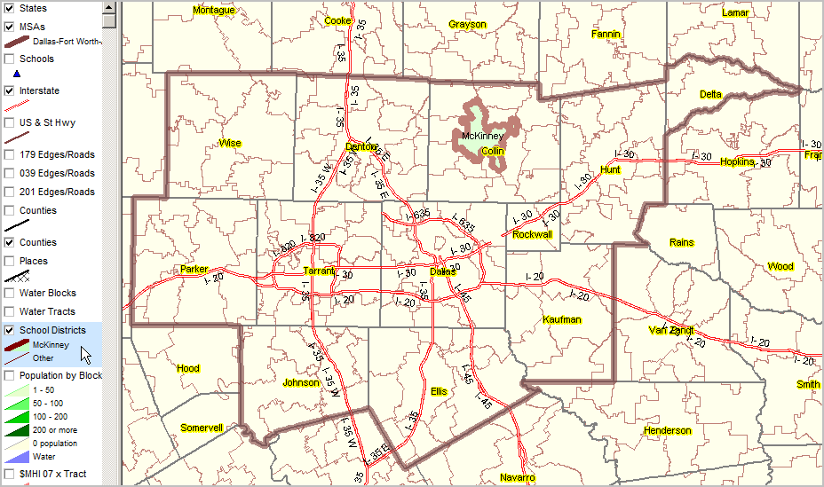 Zip Code Map Dallas Fort Worth