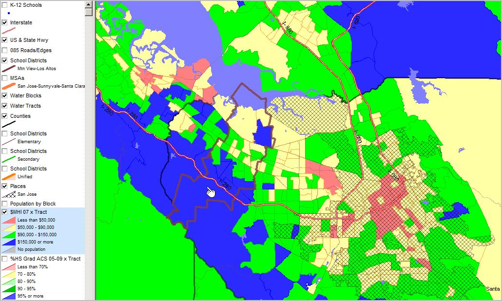 Santa Clara County CA Census 2010 Demographic Economic Patterns