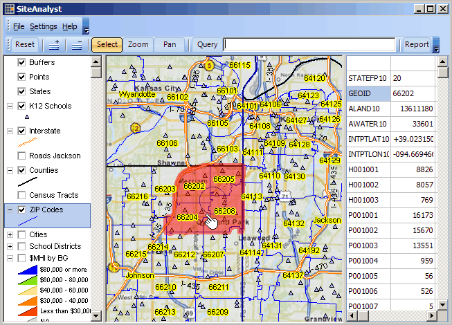 Zip Code Area Geography Demographic Economic Patterns