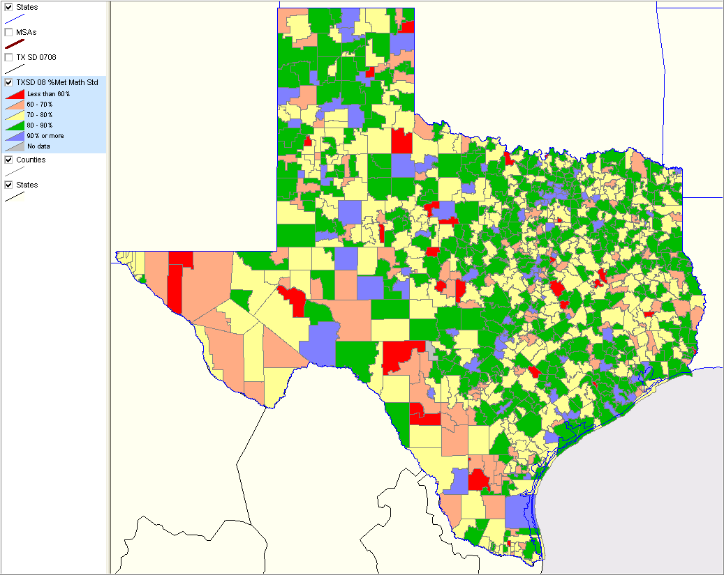 Map Of Texas Isds.Texas School District Performance Analysis