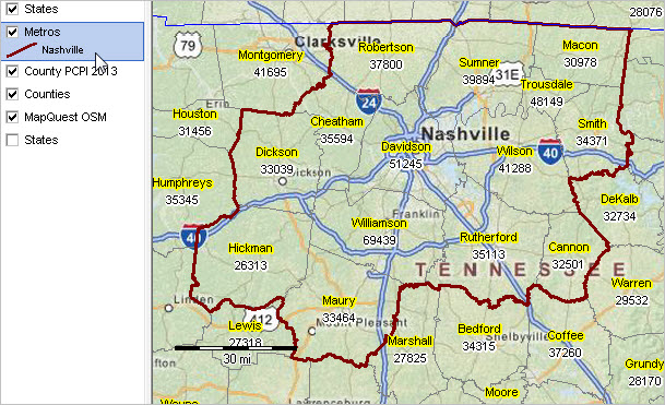 map of murfreesboro tn with Cbsa34980 on Stock Photo Tennessee State Interstate Map Image14901040 as well Rock Springs Elementary School likewise Arnold Air Force Base as well Portland also I 024.