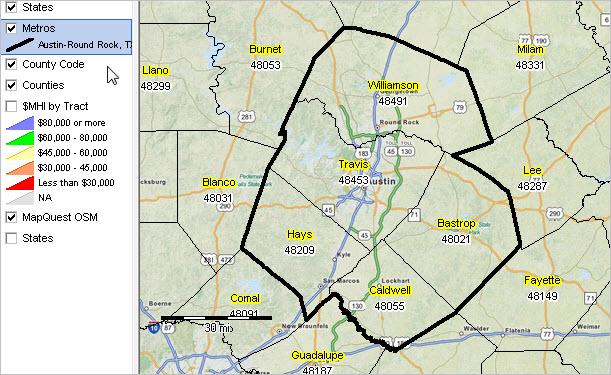 austin metro area map Austin Round Rock Tx Msa Situation Outlook Report austin metro area map