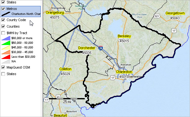 North Charleston Zip Code Map.Charleston North Charleston Sc Msa Situation Outlook Report