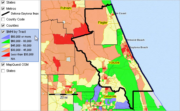 Ormond Beach Zip Code Map.Deltona Daytona Beach Ormond Beach Fl Msa Situation Outlook Report