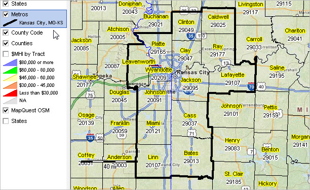 Kansas City Metro County Map Afputra Com