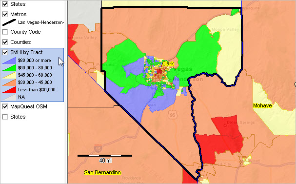 Las VegasHendersonParadise NV MSA Situation Outlook Report - Us map with major cities sioux falls to henderson nv
