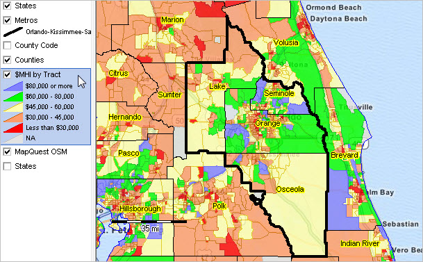 Orlando Metro Map.Orlando Kissimmee Sanford Fl Msa Situation Outlook Report