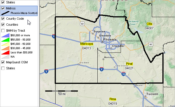 Pinal County Zip Code Map.Phoenix Mesa Scottsdale Az Msa Situation Outlook Report