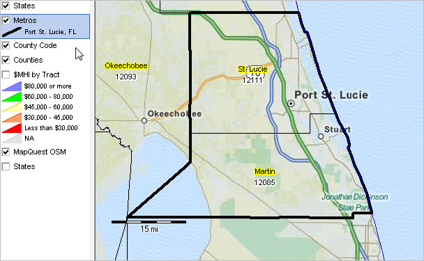 Map Of St Lucie County Florida.Port St Lucie Fl Msa Situation Outlook Report