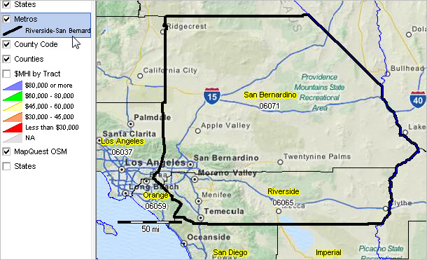 Zip Code Map Riverside County on