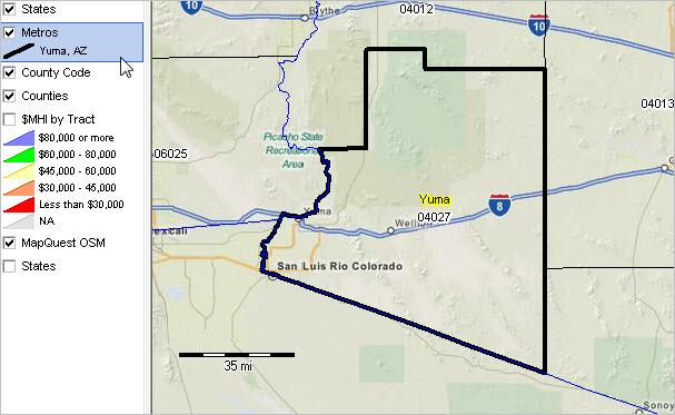 Map Of Yuma Arizona And Surrounding Area.Yuma Az Msa Situation Outlook Report
