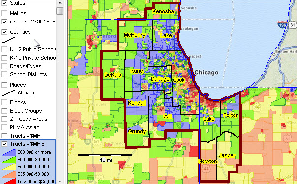 Chicago MSA Metropolitan Area Demographic Trends
