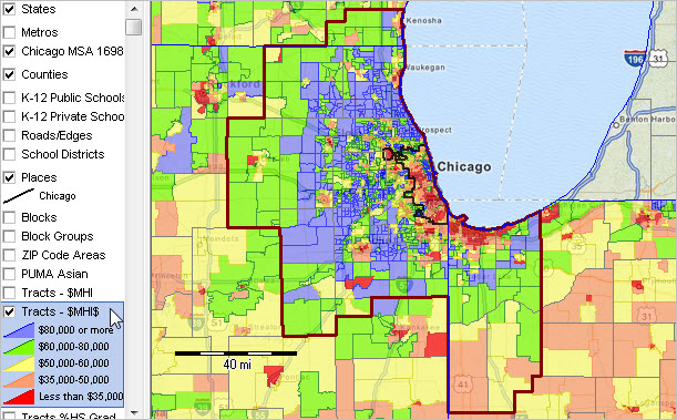 Chicago MSA Metropolitan Area Demographic Trends Population