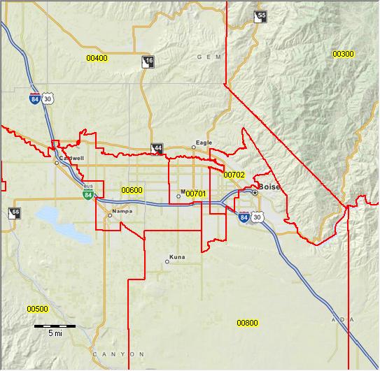 PUMA 2010 Idaho Public Use Microdata Areas