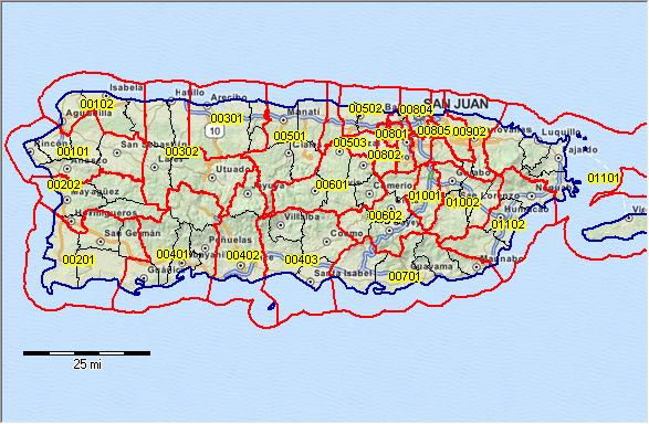 Puerto Rico Zip Code Map PUMA 2010 Puerto Rico Public Use Microdata Areas