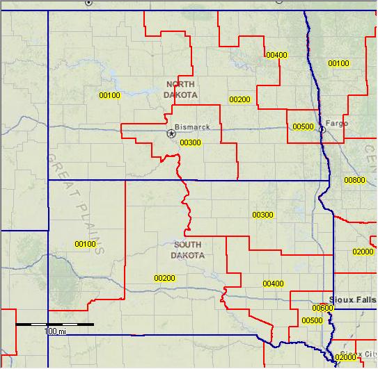 PUMA 2010 South Dakota Public Use Microdata Areas