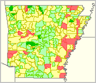 Arkansas School District Boundaries Map