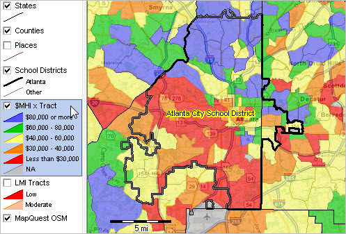 Atlanta Public Schools Georgia Demographic Economic Characteristics - Georgia map legend