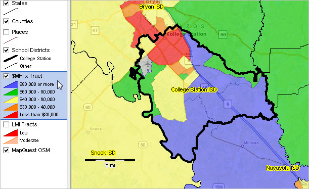 College Station Map Of Texas.College Station Isd Texas Demographic Economic Characteristics