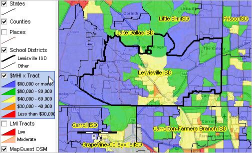 Lewisville ISD Texas Demographic Economic Characteristics