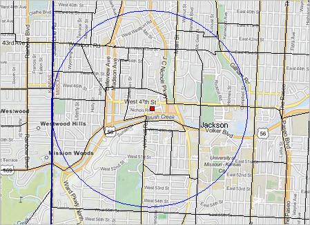 Site Report - Latitude and longitude of kansas