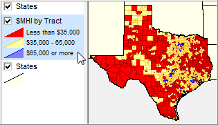 Thematic Map Of Texas.Small Area Demographics