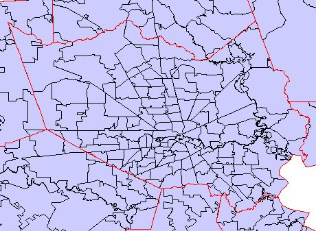 harris county map  with zip codes